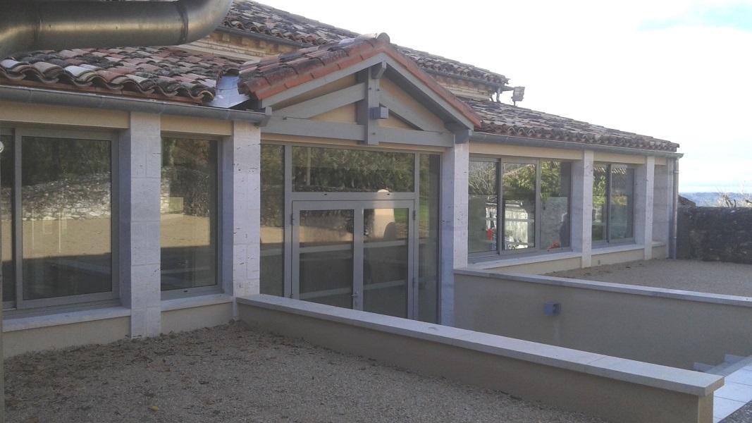 Vue 14 extension salle des fêtes de Montagudet