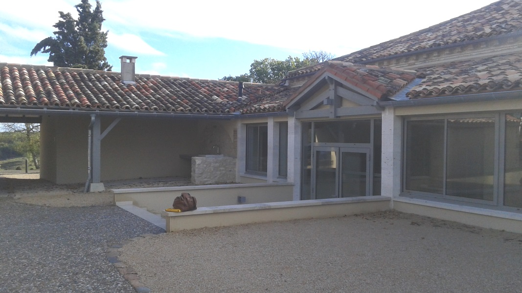 Vue 17 extension salle des fêtes de Montagudet