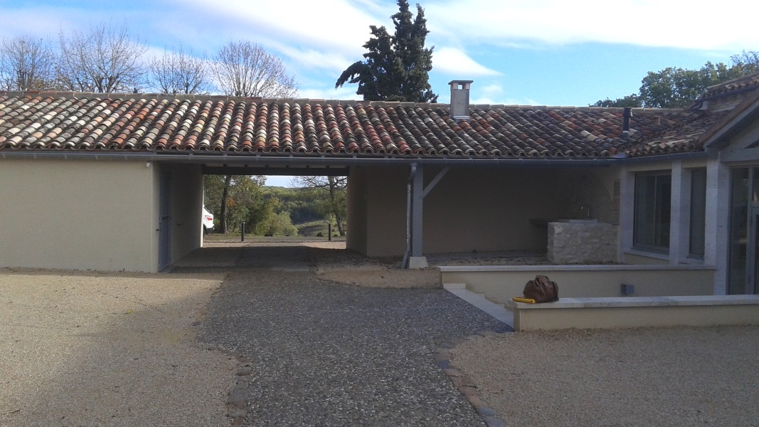 Vue 18 extension salle des fêtes de Montagudet